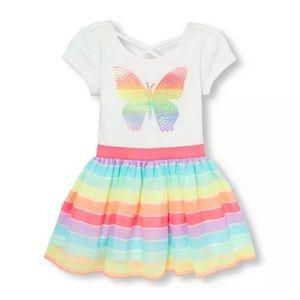 TCP Toddler Girls Butterfly Rainbow Tutu Dress